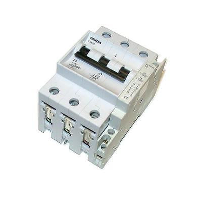 SIEMENS  5SX23  D6  3-POLE CIRCUIT BREAKER 6 AMP 400 VAC  (2 AVAILABLE)