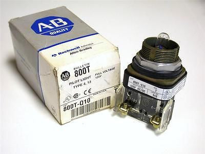 BRAND NEW ALLEN BRADLEY AB PILOT LIGHT 120 VOLT MODEL 800T-Q10