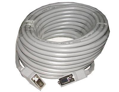 NEW CABLES TO GO 50' VGA CABLE PREMIUM SHIELDED HD15 M/F 09459 EXTENSION CABLE