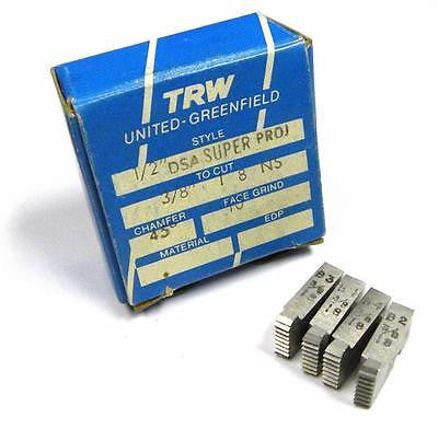 "BRAND NEW SET OF TRW THREAD CHASERS 1/2"" DSA SUPER PROJ TO CUT 3/8"" 1 8 NS"