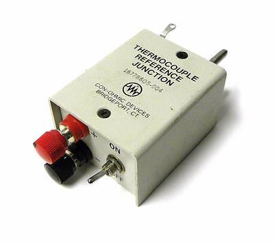 CON-OHMIC THERMOCOUPLE REFERENCE JUNCTION MODEL JR393D (2 AVAIL.) - SOLD AS IS
