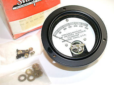NEW MINSTER 0-300 STROKES/MINUTE PANEL MOUNT METER 270-1581