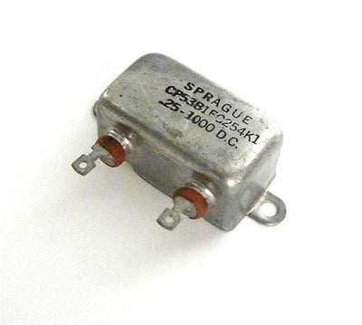 NEW SPRAGUE CP53B1EG254K1 CAPACITOR 0.25 MF @ 1000 VDC