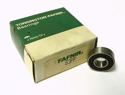 "NEW IN BOX FAFNIR S3PP SEALED BALL BEARING 3/8"" X 7/8"" X 9/32"" (2 AVAIL.)"