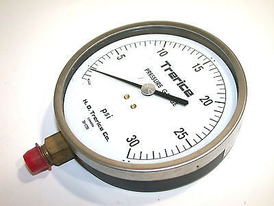 "New H.O. Trerice 0 to 30 psi 2 1/2"" 1/4"" NPT Pressure Gauges 52-2709"