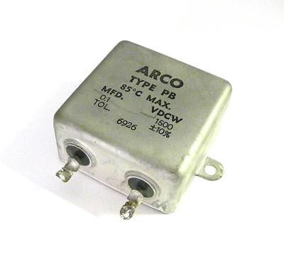 ARCO TYPE PB CAPACITOR 0.1 MFD 1500 VDCW (2 AVAILABLE)