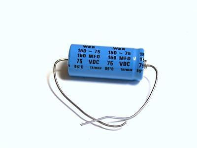 BRAND NEW CDE CAPACITOR 150MFD 75WV WBR 150-75 (3 AVAILABLE)