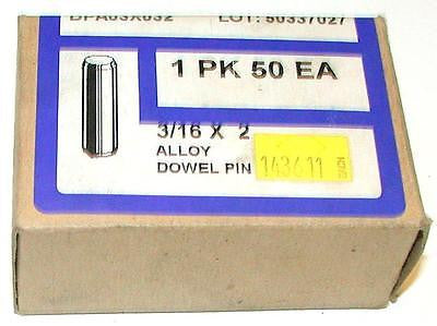 "NEW BOX OF 50 SOCKET SOURCE ALLOY DOWEL PINS 3/16"" X 2"" MODEL DPA03X032"
