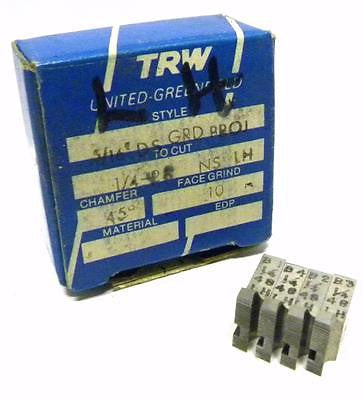 "BRAND NEW SET OF TRW THREAD CHASERS 5/16"" DS GRD PROJ TO CUT 1/4"" - 48 NS LH"
