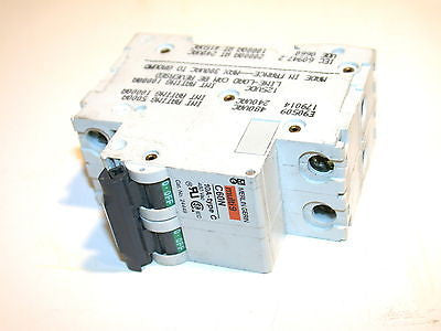 UP TO 2 MERLIN GERIN 10A 2 POLE CIRCUIT BREAKERS DIN MOUNT 24449