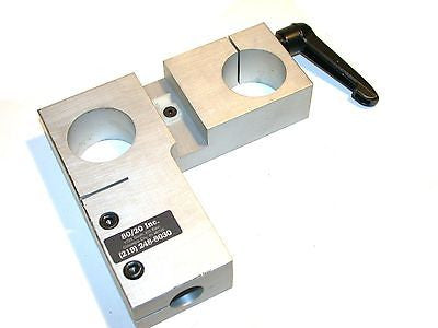 "Up to 2 80/20 Double Shaft Blank 1 1/2"" Diameter Clamping  Plates"