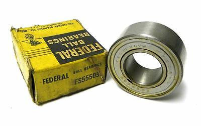 NEW FEDERAL FS55505 DOUBLE ROW BALL BEARING 25 MM X 52 MM X 20.64 MM (2 AVAIL)