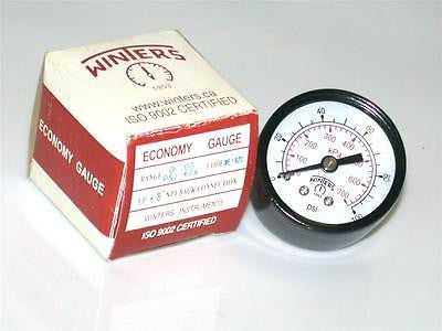"BRAND NEW IN BOX WINTERS PRESSURE GAUGE 0-100 PSI 1/8"" NPT E1420 (2 AVAILABLE)"