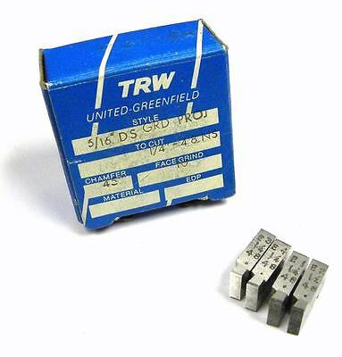 "BRAND NEW SET OF TRW THREAD CHASERS 5/16"" DS GRD PROJ TO CUT 1/4"" - 48 NS"
