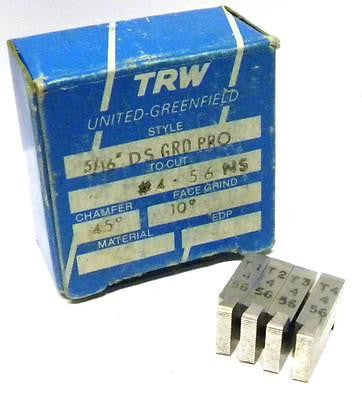 "BRAND NEW SET OF TRW THREAD CHASERS 5/16"" DS GRD PRO TO CUT #4-56 NS"