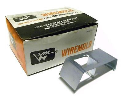 NEW BOX OF 10 WIREMOLD G-4001D PLATED COMBINATION DIVIDER CLIP AND COUPLING