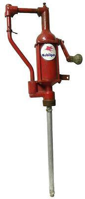 VINTAGE MOBILGAS PEGASUS HAND CRANK BARREL PUMP - SOLD AS IS