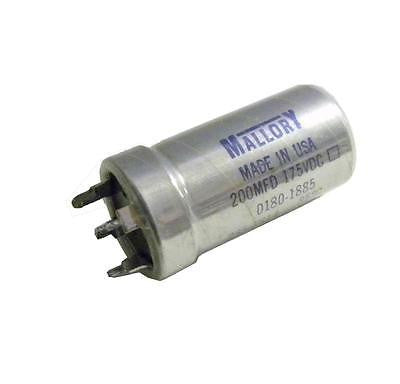 MALLORY 235-7814 CAPACITOR 200 MFD 175 VDC