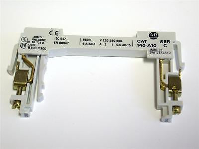 BRAND NEW ALLEN BRADLEY CONTACT, AUXILLARY FOR MTOR STARTER CAT 140-A10 SERIES C