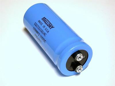BRAND NEW IN BOX MALLORY CAPACITOR 1700MFD 100WVDC CG172U100U4C (3 AVAILABLE)