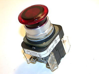 NEW ALLEN BRADLEY RED ILLUMINATED PUSH BUTTON 800T-FXTQ24 A1