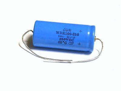 BRAND NEW CDE CAPACITOR 100MFD 250VDC WBR 100-250 (3 AVAILABLE)