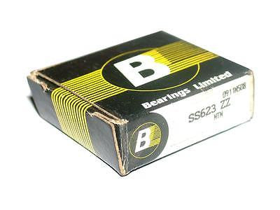 BRAND NEW IN BOX BEARINGS LIMITED BALL BEARING SS623 ZZ (5 AVAILABLE)