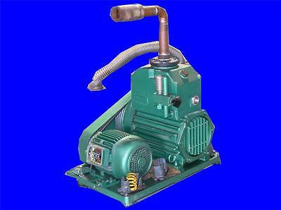 VERY NICE PFEIFFER BALZERS DUAL STAGE BELT DRIVEN ROTARY VACUUM PUMP DUO 100