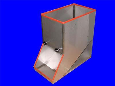 "NEW 20"" X 22"" X 10"" STAINLESS STEEL HOPPER 16"" X 10"" INLET 9-3/4"" X 9"" OUTLET"