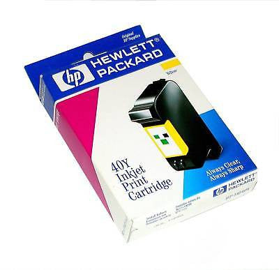 3 NEW HEWLETT PACKARD PRINT CARTRIDGES MODEL HP 51640Y