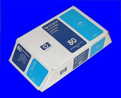 4 NEW CYAN HP 80 DESIGNJET INK CARTRIDGES MODEL C4872A