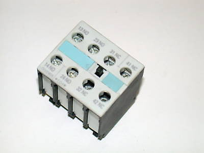 SIEMENS AUXILIARY CONTACT BLOCK MODEL 3RH19211FA22