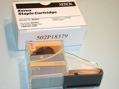 BOX XEROX STAPLES 5 CARTRIDGES # 8R4023 - 25,000 STAPLES - 10 AVAILABLE