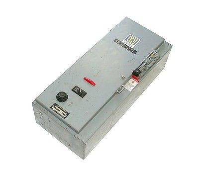 SQUARE D COMBINATION STARTER ENCLOSURE 27 AMP MODEL 8538SCG14
