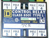 3 SQUARE D CONTROL RELAYS 110/120 VAC MODEL  8501L0-40