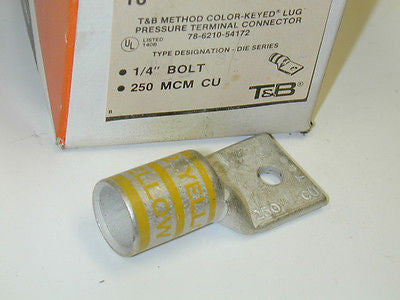 LOT OF 15 THOMAS & BETTS  54172 SHORT BAR LUGS 1 HOLE 78-6210-54172