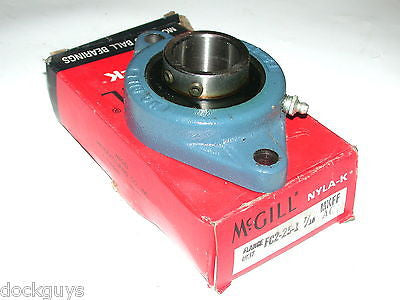 "BRAND NEW IN BOX MCGILL 2 BOLT FLANGE BEARING FC2-25-1 7/16"" (4 AVAILABLE)"