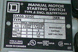 SQUARE D MANUAL MOTOR STARTING SWITCH 30 AMP MODEL 2510KW2H  (3 AVAILABLE)