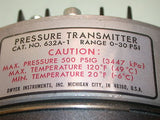 2 DWYER PRESSURE TRANSMITTER MODEL 632A-1 0 TO 30 PSI