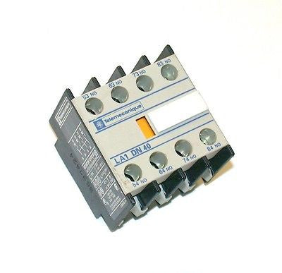 TELEMECANIQUE AUXILIARY CONTACT BLOCK MODEL LA1DN40   (15 AVAILABLE)