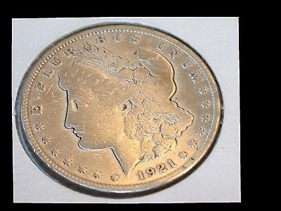 1921 MORGAN SILVER DOLLAR - FREE SHIPPING