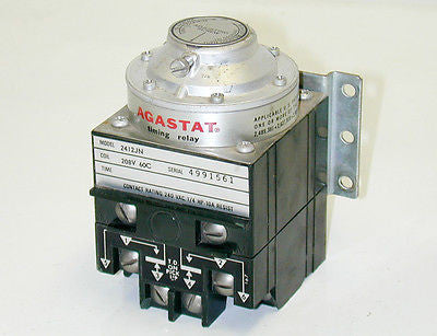 AGASTAT TIMING RELAY 2412JN 240VAC 1/4HP 10A 2412JN