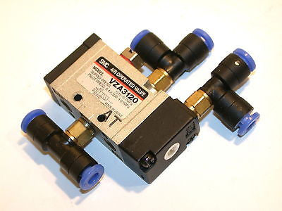 UP TO 7 SMC 5 PORT AIR OPERATED VALVES VZA3120