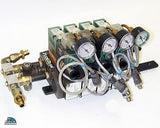 NUMATIC 4 BANK SOLENOID FLEXIBLOK ASSEMBLY WITH HARDWARE 081RS1005