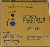 OMRON POWER SUPPLY 12 VDC OUTPUT 0.6 AMP OUTPUT MODEL S82K-0712  (2 AVAILABLE)