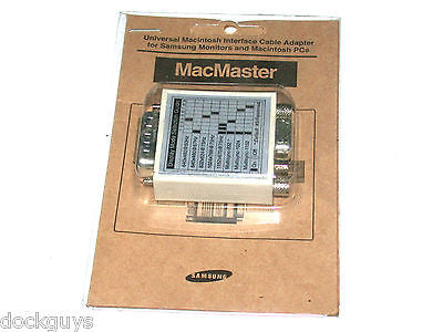 BRAND NEW IN BOX SAMSUNG MACMASTER PC TO MAC VIDEO ADAPTER - FREE SHIPPING