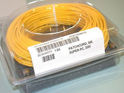 UP TO 12 NEW FIBER OPTIC PATCH CORDS 35 METERS SMF-28 SUPER-PC SM