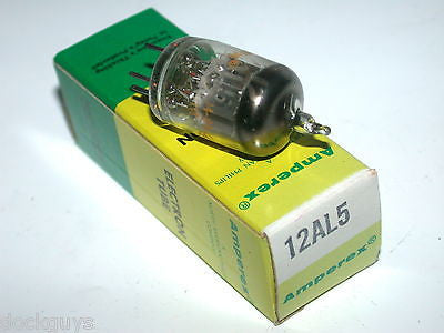 BRAND NEW IN BOX AMPEREX ELECTRONIC TUBE 12AL5 (10 AVAILABLE)