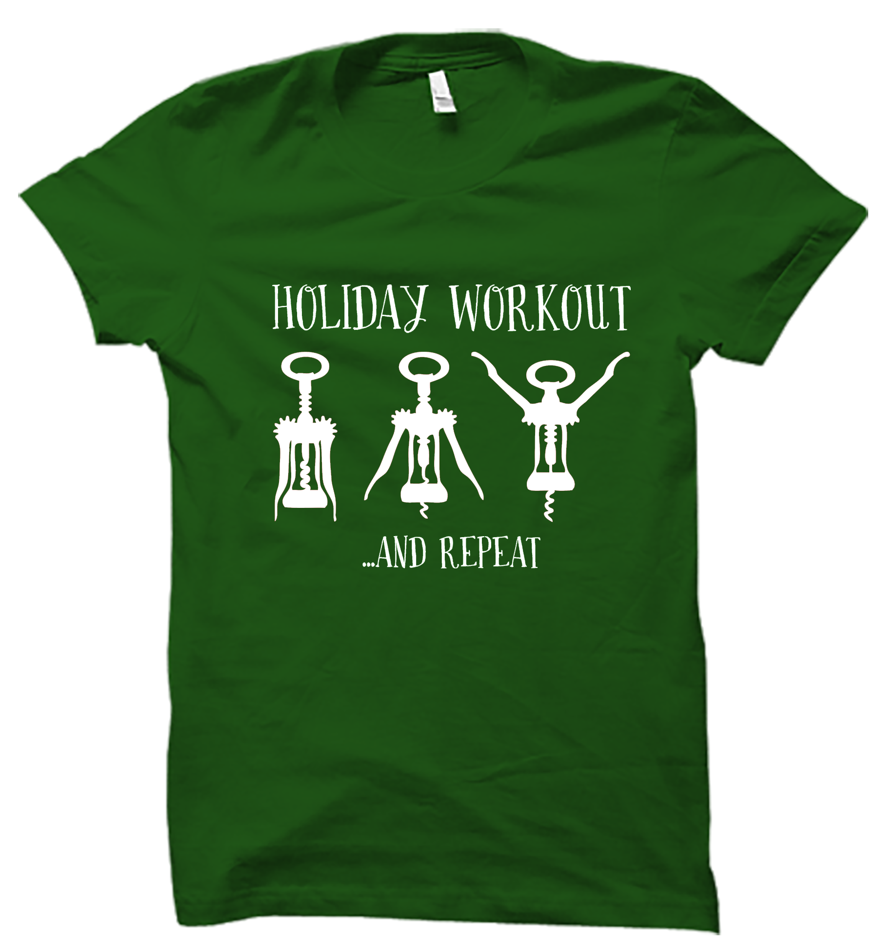 Design t shirt for holiday -  Holiday Workout T Shirt