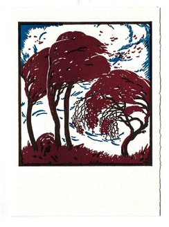 Equinox Trees Letterpress Card